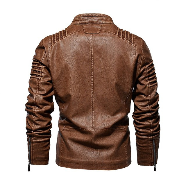 Men Coat Jacket Men 2019 Zipper leather jacket Stand Neck Streetwear Harajuku Men Jacket Mens Jackets And Coats Clothes Roupas