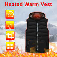 Men Women Heated Vest Jackets Outdoor Intelligent Thermostatic Heating Vest USB Heating Vest Thermal Clothes Hiking Camping