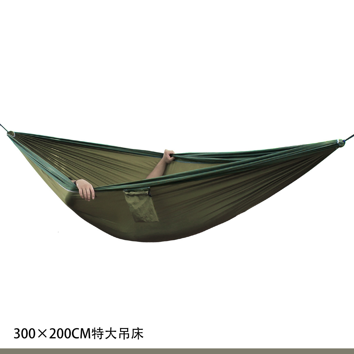 Outdoors Parachute Cloth Hammock Garden Hanging Chair 300*200cm Camping Swings Double Hammock