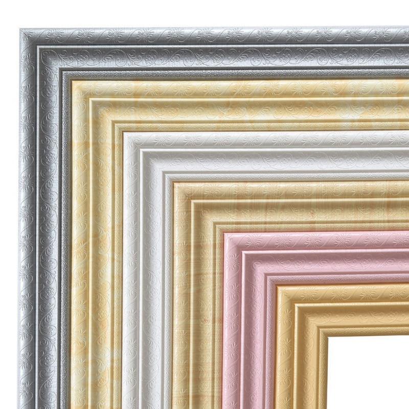 Self-adhesive Strip Wall Decoration Foam Frame Strip With Adhesive Waist Line Wallpaper Waterproof Baseboard Wall Sticker