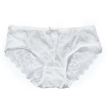 Bragas bajas de encaje para mujer ropa interior de Spandex para mujer