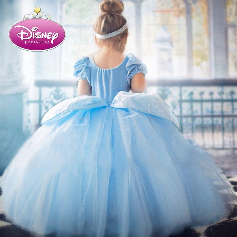 Disney Золушка Платья принцессы для девочек Детские платья для девочек; Рождественское платье; Детский костюм вечерние бальное платье летнее ...