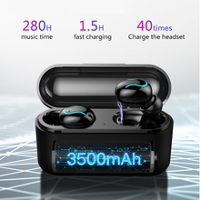 Wireless Bluetooth 5.0 Earphone TWS Headsets Sport Music Earphones Stereo headset with 3500 mAh Power Bank for Xiaomi iPho