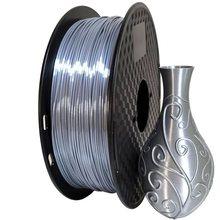 Filamento de impressora, filamento de impressora de seda pla prata 1.75mm 500g/250g 3d filamento de pla metálico brilhante