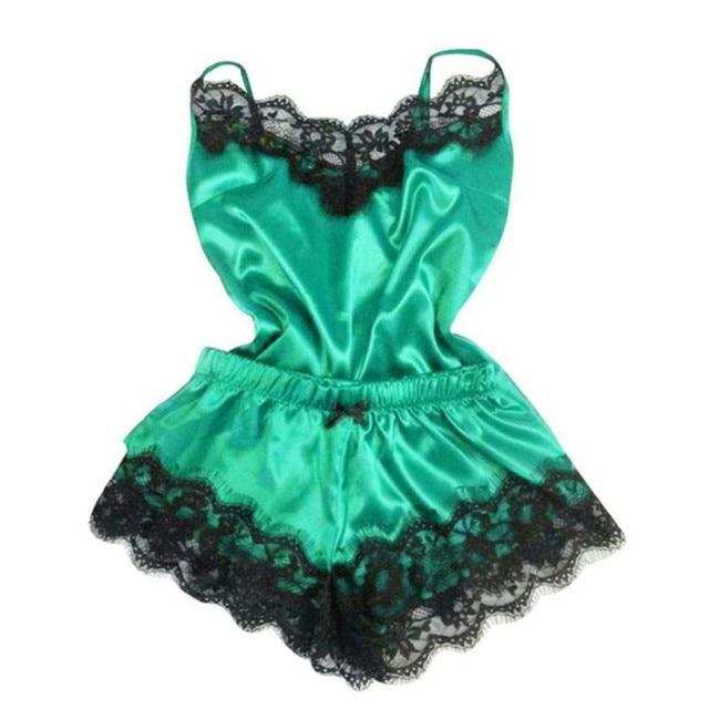 New Women Lingerie Lace Sleeveless Sleepwear Set