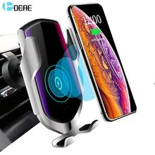 QI Wireless Charger Car Mount Automatic Clamping 10W Fast Charging Air Vent Phone Holder for iPhone 11 XS XR X 8 Samsung S10 S9