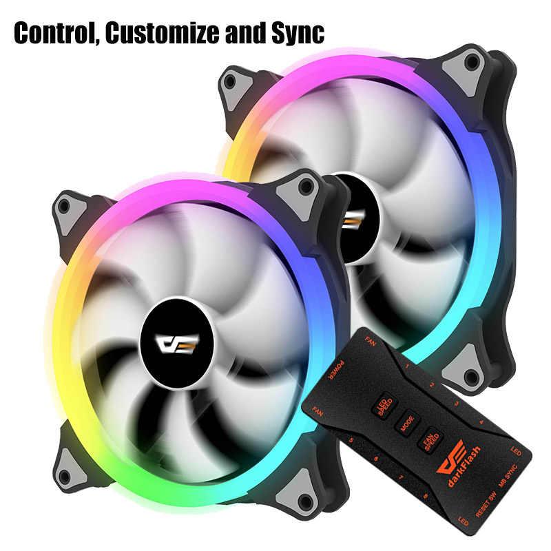Aigo CS140 ordinateur aura sync boîtier pc ventilateur radiateur ventilateur rgb ajuster led 140mm refroidissement refroidisseur ventilateur silencieux télécommande sans fil