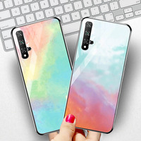 silicone case Tempered Glass Case For Huawei honor 20 8X mate 20 10 lite Cases Space Silicone Covers for Huawei mate 20 Pro 20x back cover (2)