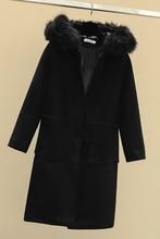 2019 New Elegant Long Women's coat lapel 2 pockets belted Jackets solid color coats Female Outerwear Fashion Fur Collar Coat цена
