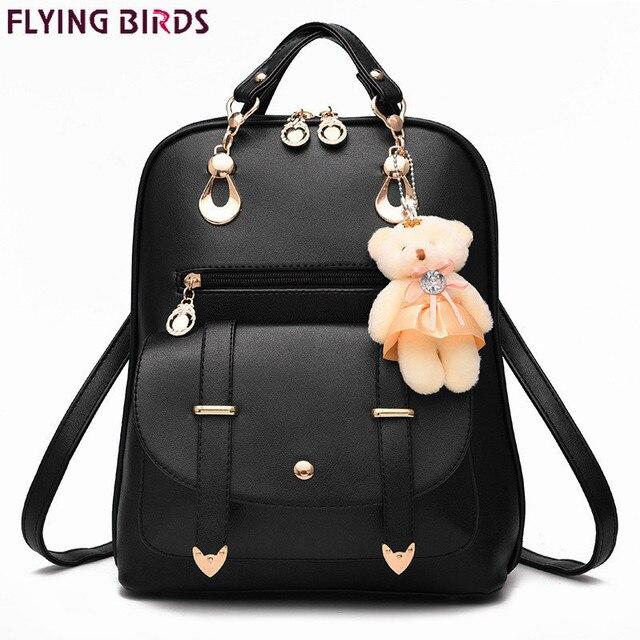 Tiki tarzı kadın sırt çantası oyuncak ayılar PU deri okul çantaları genç kızlar için kadın sırt çantası omuzdan askili çanta seyahat sırt çantası