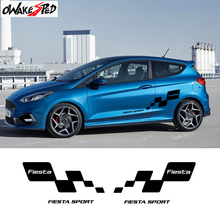 Racing Sport Styling Car Body Door Decor Sticker For Ford Fiesta RS ST Line Limited Edition Both Side Vinyl Decal DIY Accessorie цена и фото