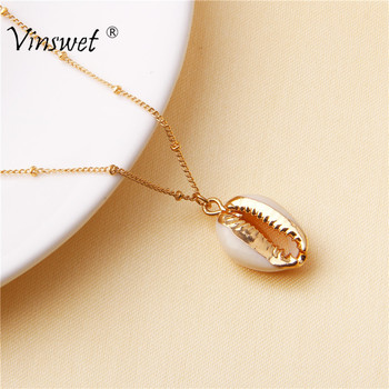 Fashion Natural Shell Wrap Seashell Conch Pendant Necklace for Women Cowry Bohemian Boho Ocean Summer Cowrie Shell Jewelry