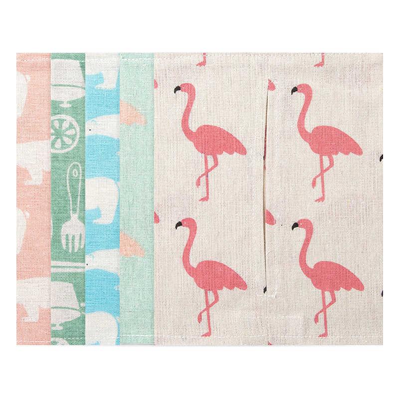 Cartoon Animal Pattern Cotton Linen Tissue Box Cover Car Paper Bag Napkin Holder