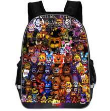 11-16 cinco noites em freddys mochila crianças sacos de escola mochila crianças fnaf jardim de infância freddy fazbear urso mochilas