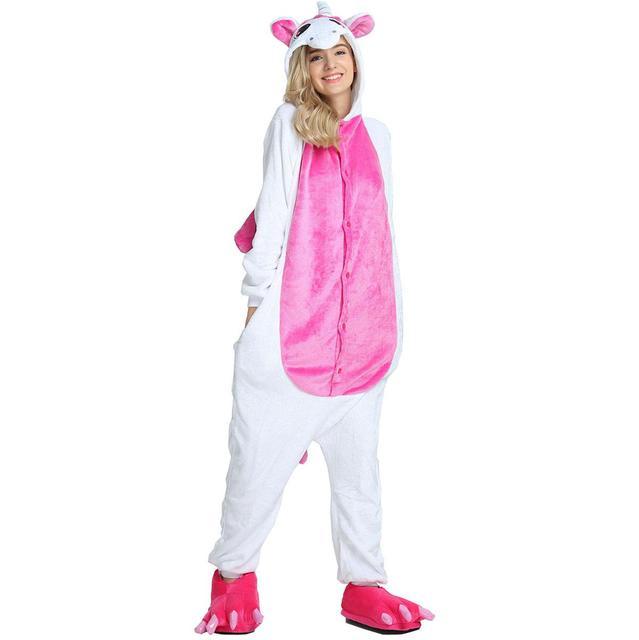 pyjama licorne blanche à tâche rose