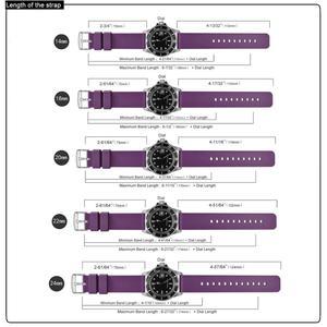 Image 4 - WOCCI סיליקון Ruber שעוני חכם רצועת לגברים נשים 14mm 18mm 20mm 22mm 24mm רחיץ 13 צבע ספורט רצועת השעון חג המולד מתנה