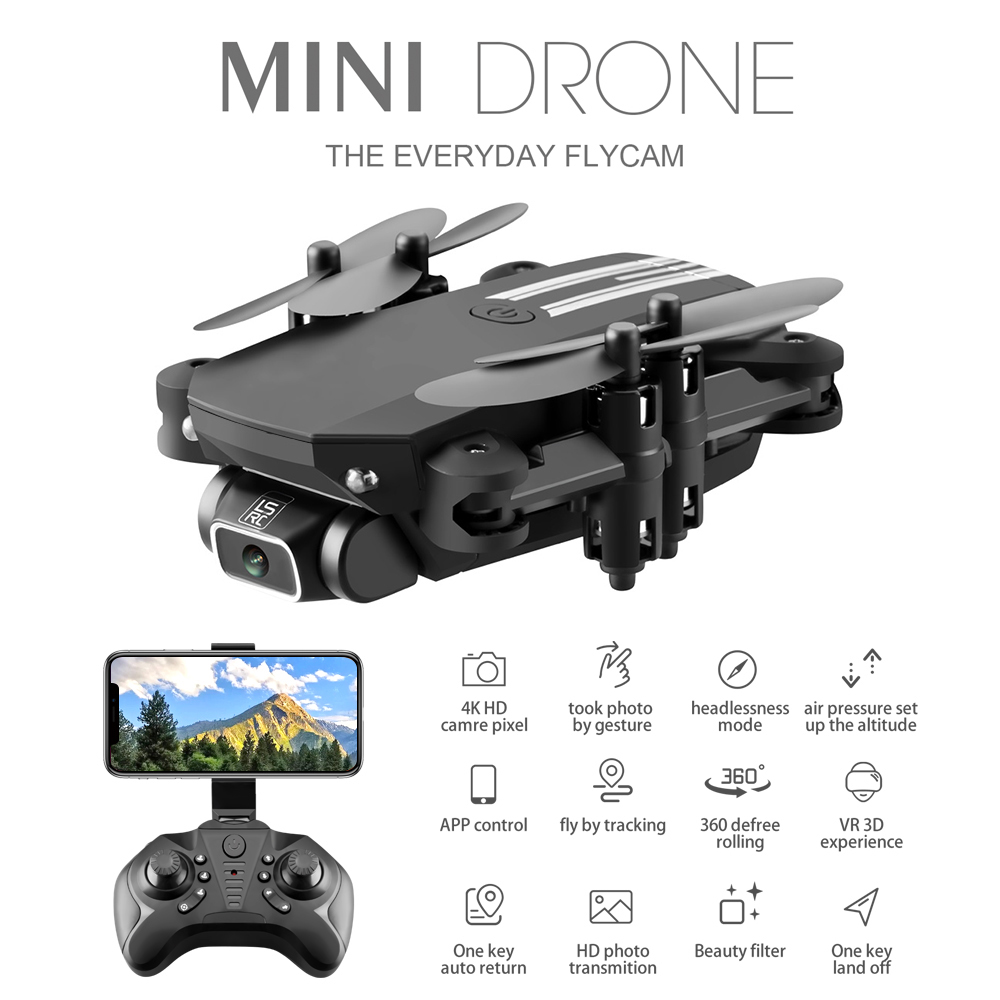 LS Mini Drone with 50 Times Zoom WiFi FPV 4K Dual Camera Optical Flow Quadcopter Foldable Selfie Dron VS SG106 M70
