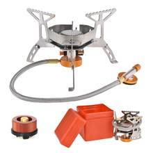 Piezo Ignition Gas-Adaptor Gas-Burner Stove-Split Camping-Equipment Portable