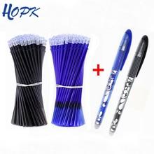 53 шт./лот стираемая ручка, набор для заправки, моющаяся ручка 0,5 мм, синяя черная чернильная шариковая ручка, запасной стержень, школьные канцелярские принадлежности