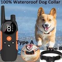 Fernbedienung Smart Hund Ausbildung Kragen Schock Wiederaufladbare Ipx7 Wasserdicht Produkt Für Haustiere Kleine Medium Large