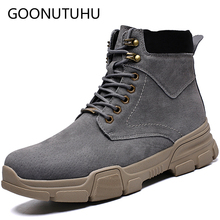 Autumn winter fashion men's ankle boots casual leather shoes male army boot men snow shoe man comfortable military boots for men northmarch men winter boots casual genuine leather business man shoes flat heel ankle boots for male comfortable orange boots