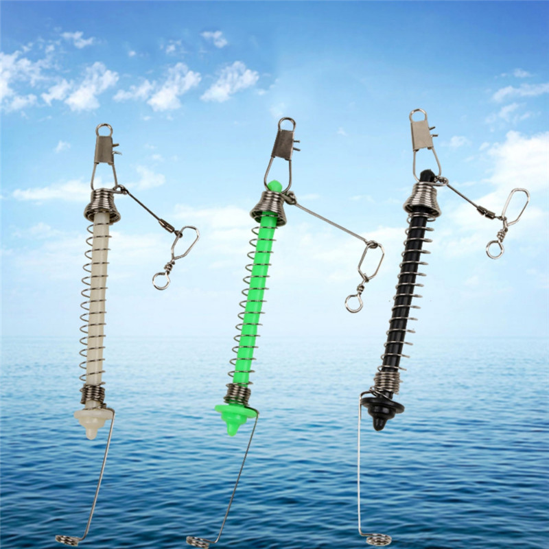 Universal Iron Metal Automatic Fishing Double Hook Ejection Lazy Full Speed Fast Catch Tool Barbed Hooks Set Small Duplex Hooks