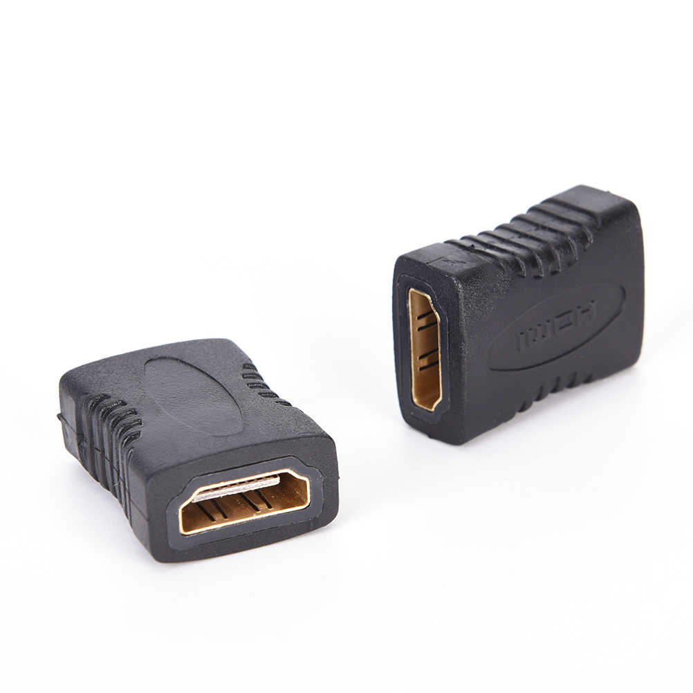 2 Pcs HDMI Extender Female Ke Female Coupler Konektor Adaptor 1080P untuk HDTV