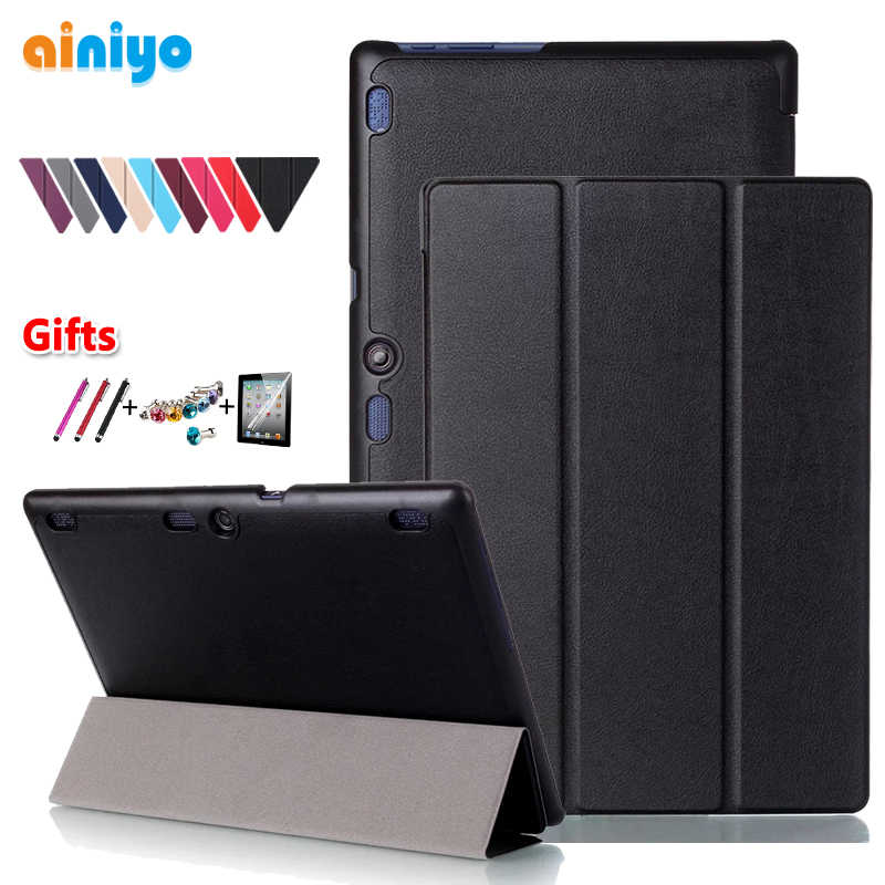 Ultra İnce standı kılıf Lenovo Tab2 A10-70 Tab2 A10-30 Tab3 10 artı Tab3 10 İş TB-X103F TB2-X30F TB3-X70F Tablet + hediyeler