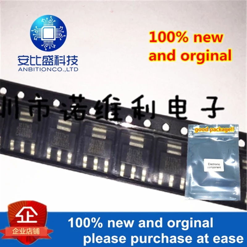 10pcs 100% New And Orginal SPX1117M3-5.0---TR LDO 5V0.8A SOT-223 In Stock