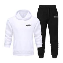 Men's tracksuit winter male fashion Fleece suit sports Jogger Tracksuits men's sets hoodies Sportswear suit Casual running suit