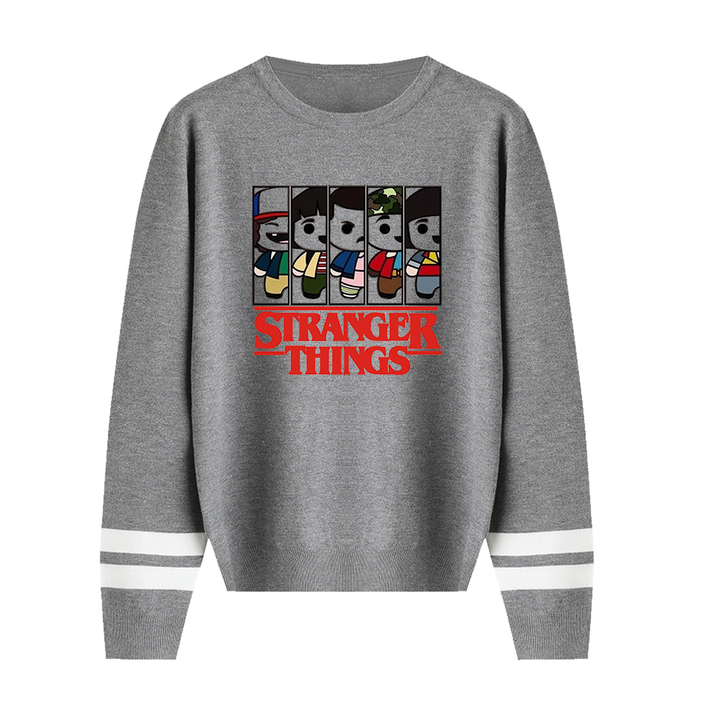 New Sale Stranger Things Sweater Knitting Men/women Fashion High Quality O-neck Sweater Stranger Things Sweater Casual Tops