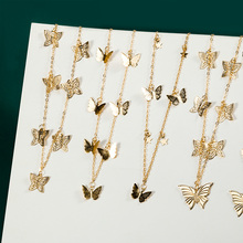 цена на Bohemian Butterfly Choker necklace Women Gold Silver Color Acrylic Cutout Clavicle Necklaces for Women 2020 Fashion Jewelry New