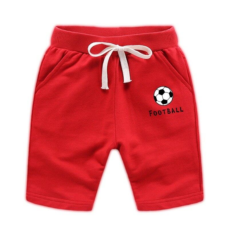 VIDMID Children Boys Trousers Cotton Shorts Baby Boys Girls Football Print Clothes Shorts Kids Cartoon Trousers Clothing 7060