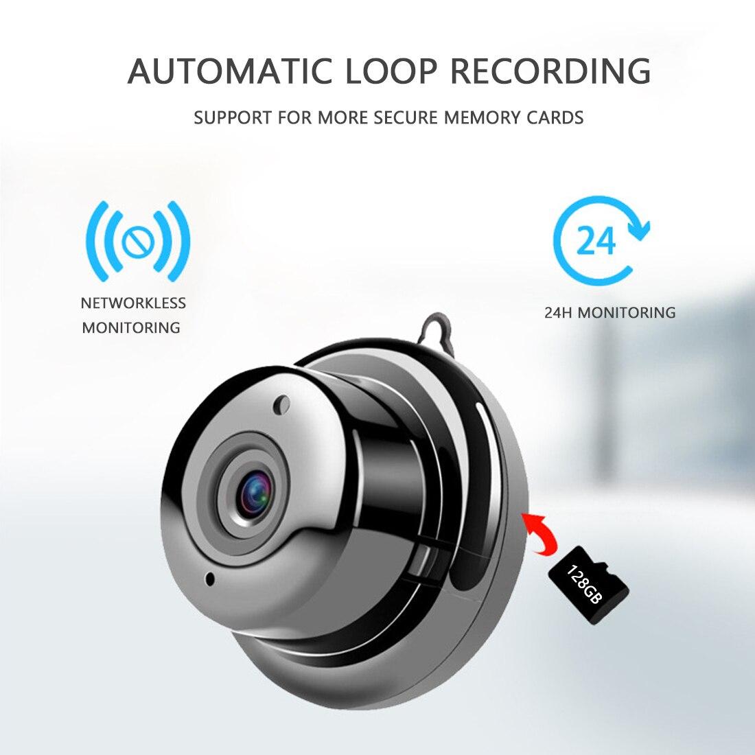 1080P Wireless Mini WiFi Camera Home Security Camera IP CCTV Surveillance  Night Vision Motion Detection SD Card Slot Audio V380