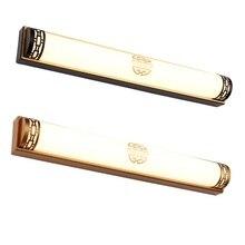 Ретро Зеркало свет китайский светодиодный зеркало фары сплав лампа корпус светодиодный светильник для ванной комнаты 85-265 в настенное освещение Ванная комната Лофт
