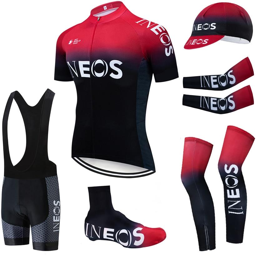 2019 EQUIPE INEOS 20D bicicleta shorts de ciclismo roupas Terno COMPLETO Ropa ciclismo quick dry ciclismo jersey Maillot mangas aquecedores