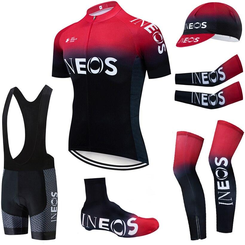 2019 equipe ineos ciclismo roupas 20d calções de bicicleta terno completo ropa ciclismo secagem rápida camisa maillot mangas aquecedores