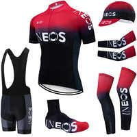 2019 equipo INEOS Ropa de Ciclismo 20D pantalones cortos de bicicleta traje completo Ropa de Ciclismo de secado rápido Maillot mangas calentadores