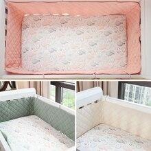 Baby Crib Bumper Cotton Thicken Crib Around Cushion Cot Protector Pillows Newborns Room Bedding Decor