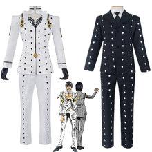 Costume de Cosplay de l'anime JoJo, couleur noir et blanc, tenue Zentai