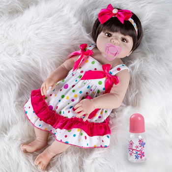 New Rebirth Doll Birthday Gifts Toys For Girls 55cm Silicone Reborn Dolls Clothes Sleeping Baby Realistic Soft