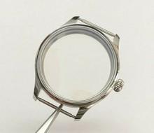 Parnis 44MM 316L koperta zegarka ze stali nierdzewnej fit 6497/6498 mechaniczne ręcznie nakręcany ruch 02