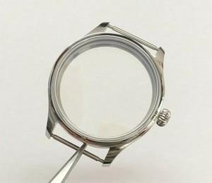 Image 1 - Parnis 44mm 316l caixa de relógio aço inoxidável caber 6497/6498 movimento vento mão mecânica 02
