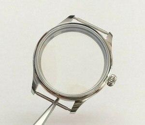 Image 1 - Parnis caja de reloj de acero inoxidable, 44MM, 316L, compatible con cuerda a mano mecánica 6497/6498, movimiento 02