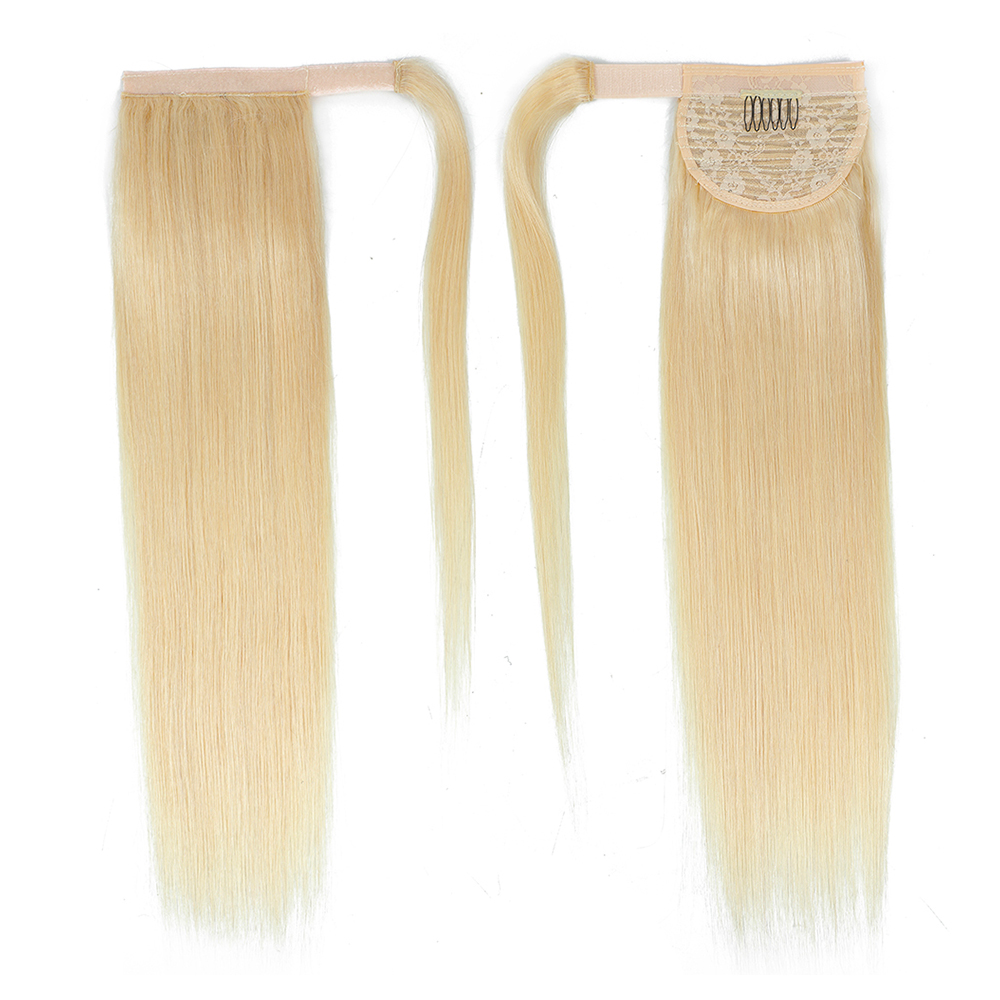 Straight 100% Human Hair Ponytail Brazilian Machine Remy Ponytail Wrap Around Horsetail wig 100g Hairpieces Natural Tails