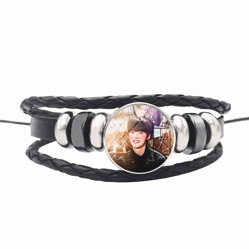 Kpop bezpańskie dzieci fotoalbum kryształowa bransoletka DIY pleciony zroszony koreański styl mody prezent dla kolekcja dla fanów kpop bezpańskie dzieci
