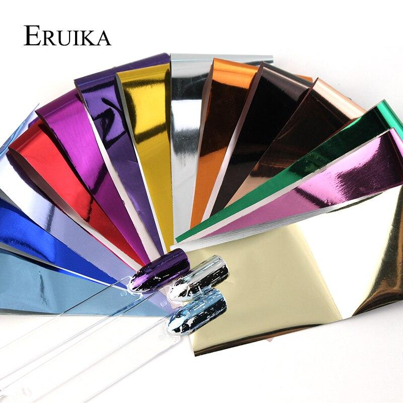 ERUIKA 14 шт. Очаровательная фольга s для ногтей голографическая переводная фольга наклейки Звездная бумага маникюр декор Набор ногтей