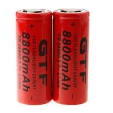 Baterias recarregáveis 26650 8800mah da bateria de lítio de gtf 26650 8800 para a lanterna de alta potência
