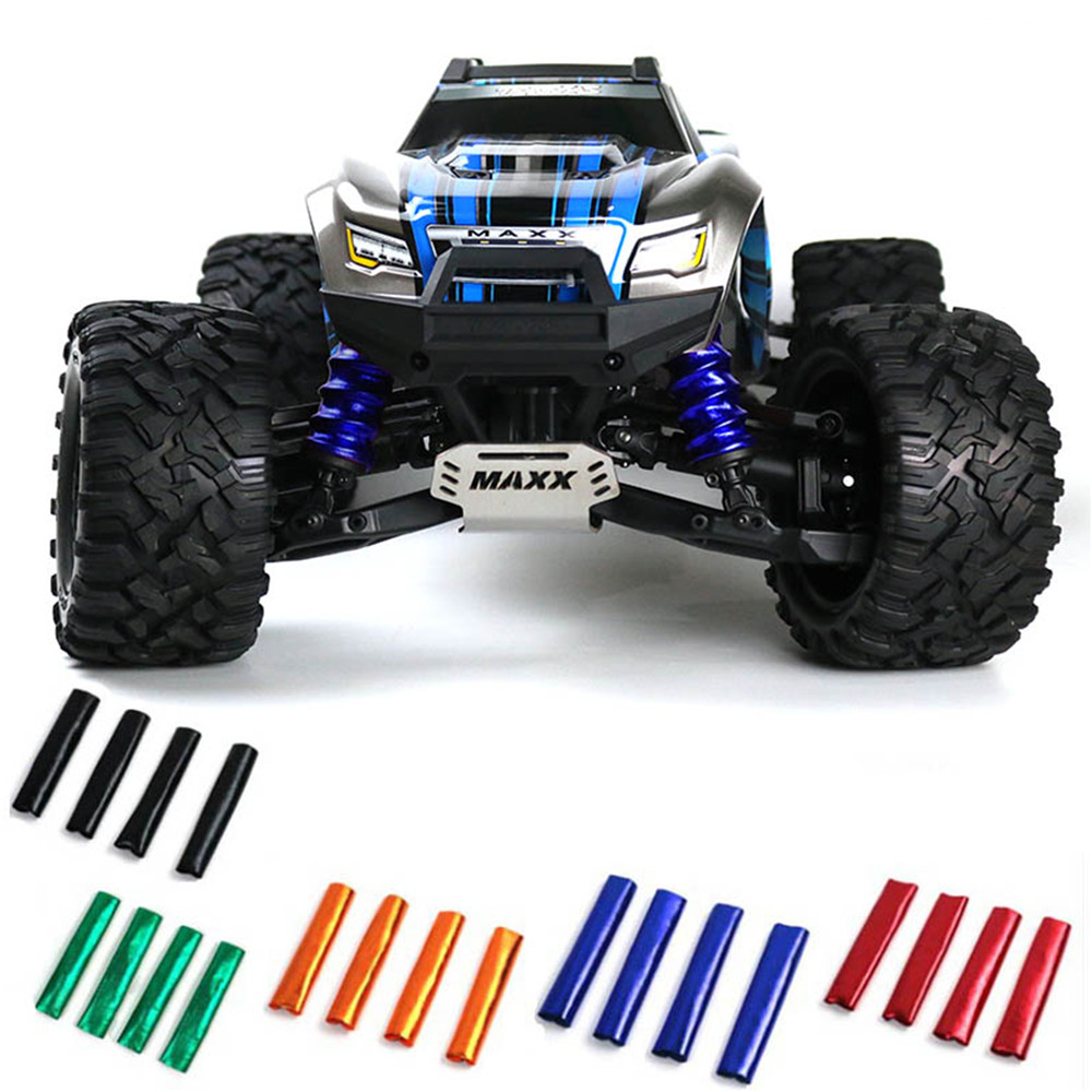 4pcs/set Shock Absorber Cover Model Car Spring Dust Sleeve For 1/10 Traxxas 89076-4 X-Maxx 4WD RC Car Parts