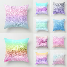 2019 New Shining Colour Cushion Cover Cotton Covers Canvas Home Case